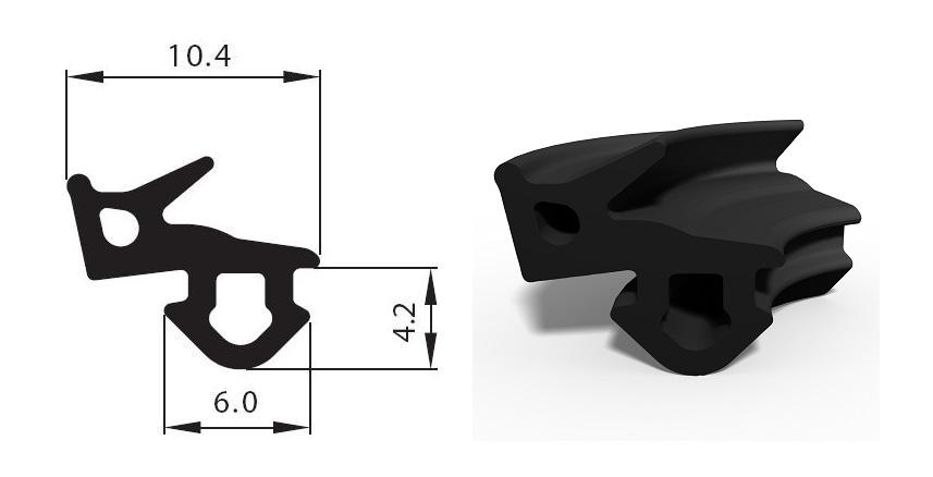 fensterdichtung gummidichtung f r alle fenster veka s 1126. Black Bedroom Furniture Sets. Home Design Ideas